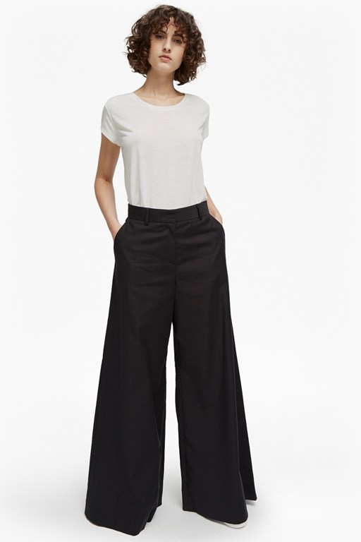 ria cotton flare trousers