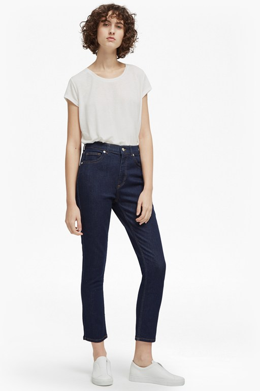 authentic modal denim high rise jeans