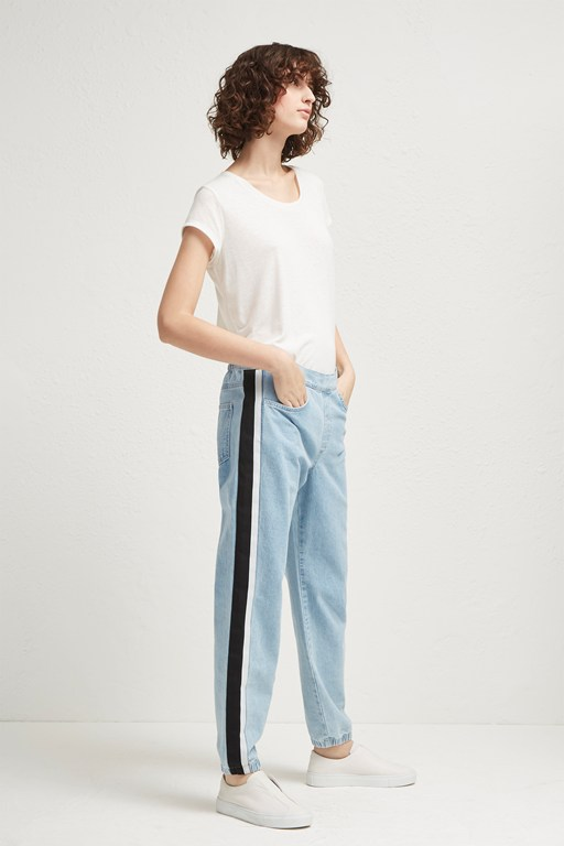 theo denim track pants