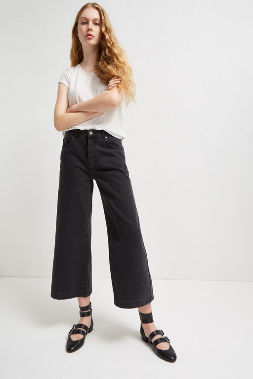 dennery denim cropped cone jeans