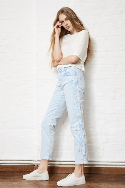 Aida High Rise Straight Jeans