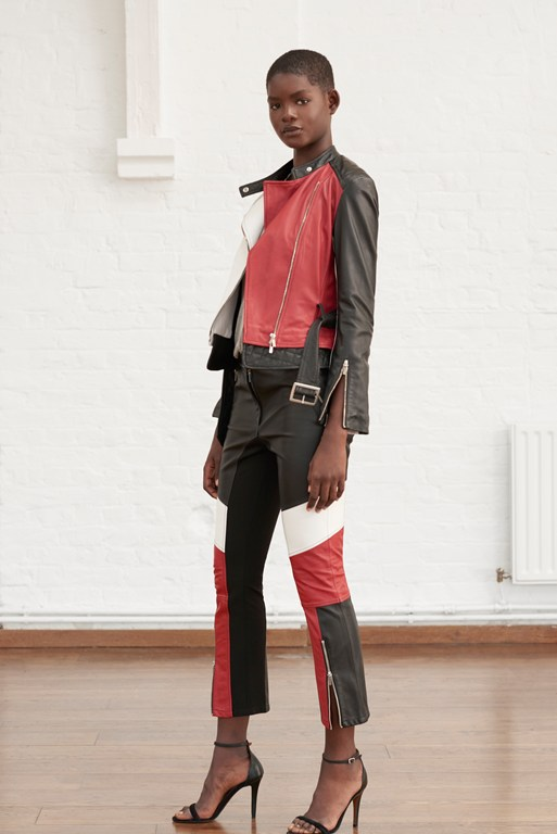 evia leather biker trousers