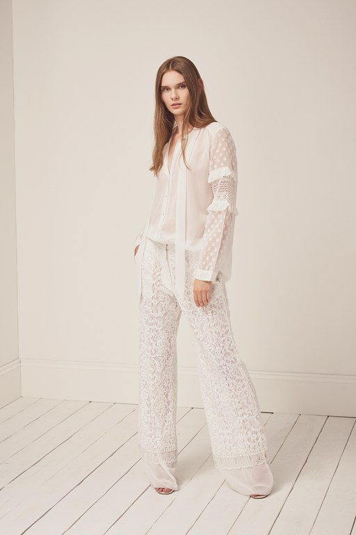 arta lace layer trousers