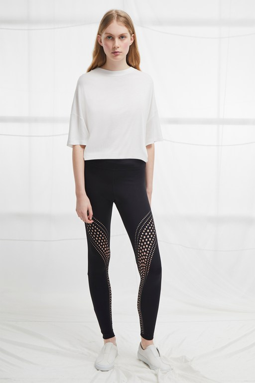 laser cut jersey leggings