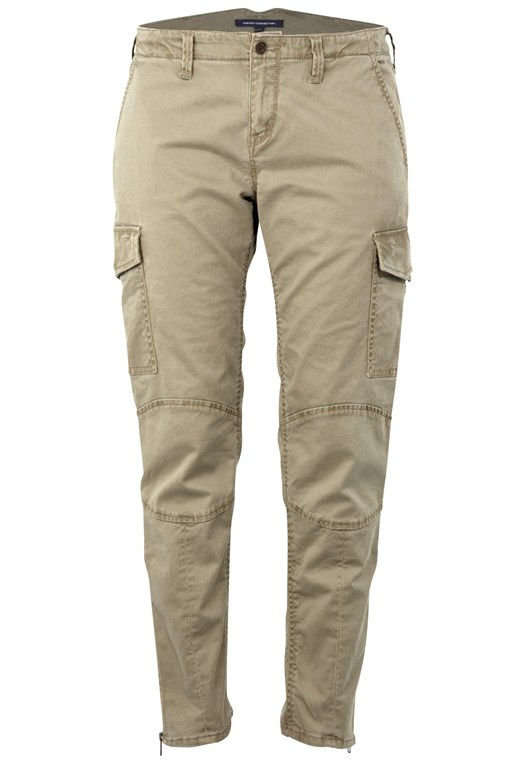 French Connection Sandie Stretch Cargo Trousers Brown