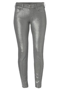 Metallic Lilly Cropped Jeans