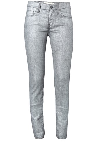 Metallic Denim Trouser