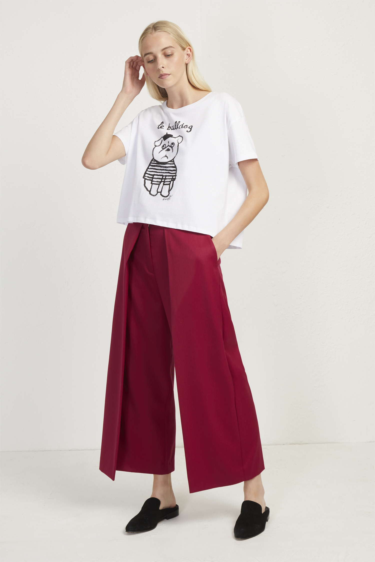 Cedany Tallulah Culottes - baked cherry