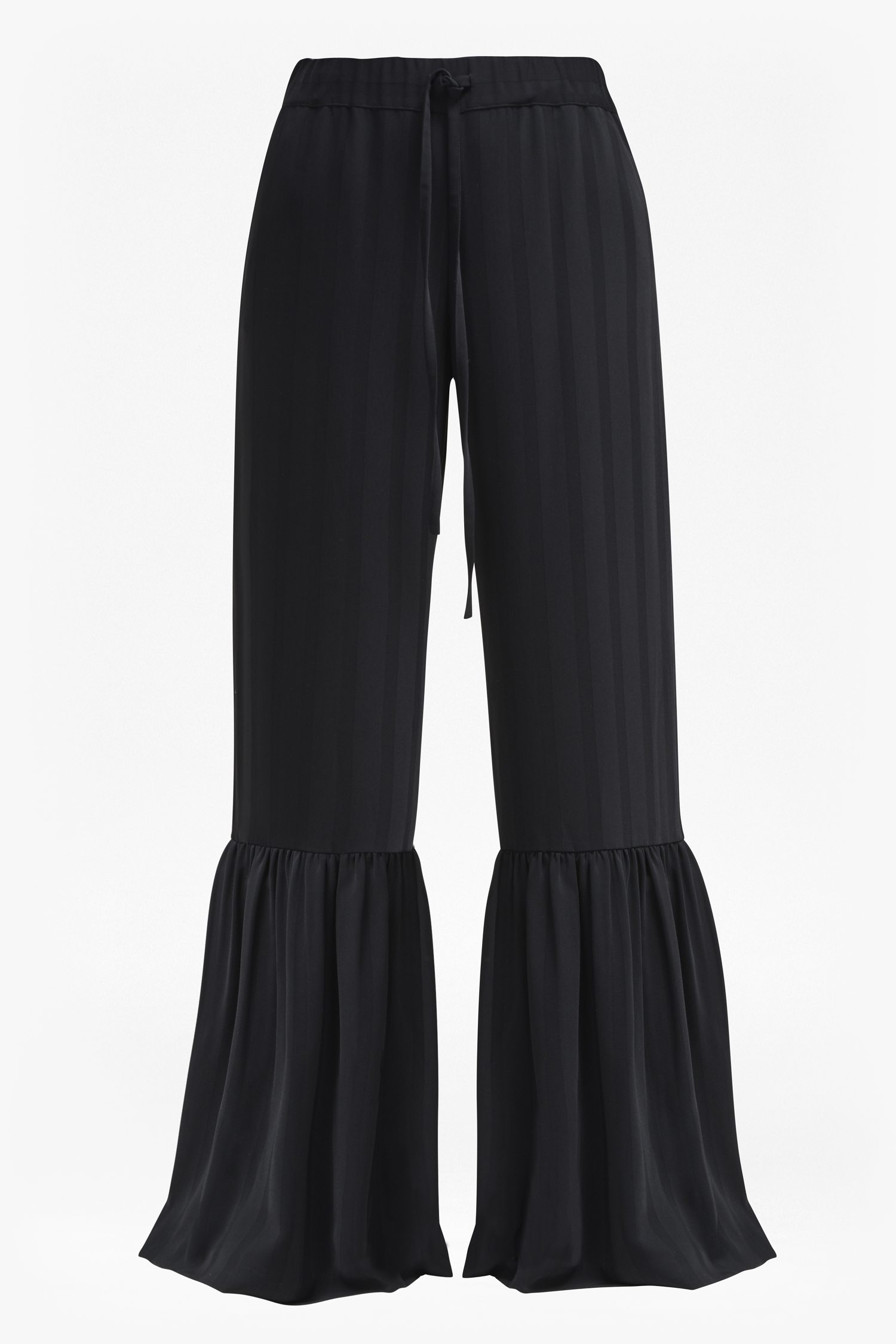Aleida Suiting Bell Bottom Trousers - black