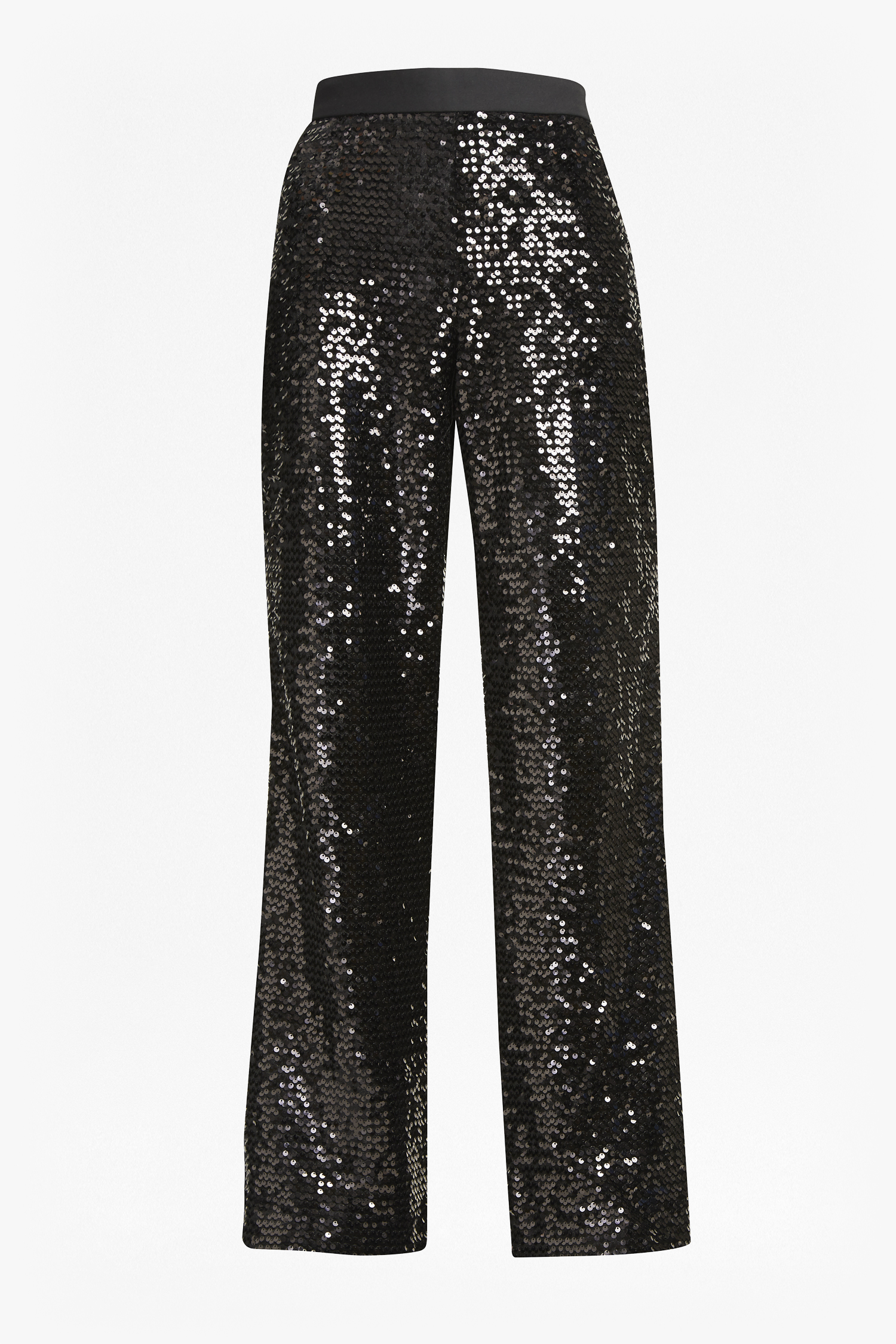 Alodia Sequin Flared Trousers - black