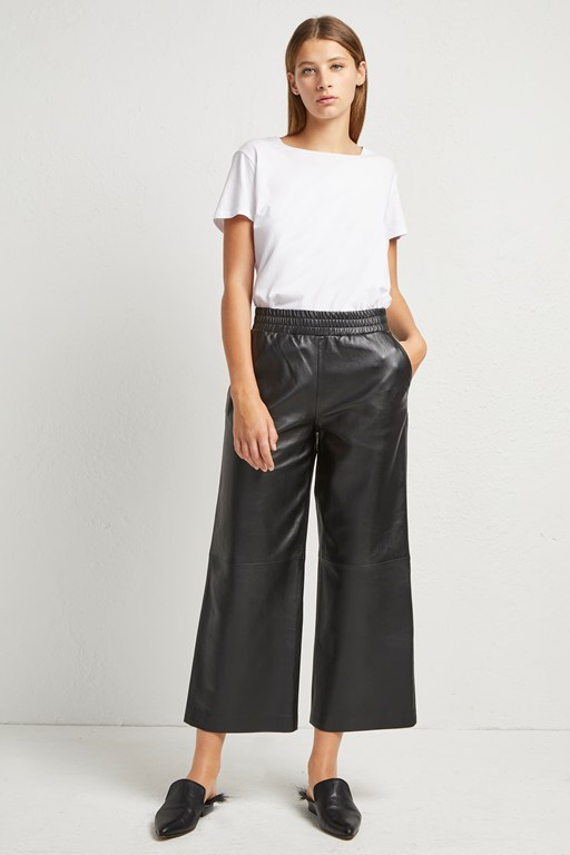 Complete the Look Alia Leather Culottes