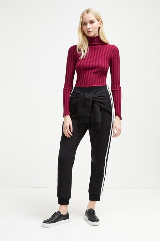 tied sleeve tri-blend sweat trousers