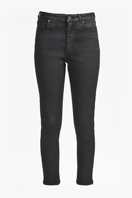 Joany Leather Look Skinny Jeans