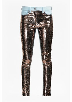 May Sequin Mix Skinny Jeans