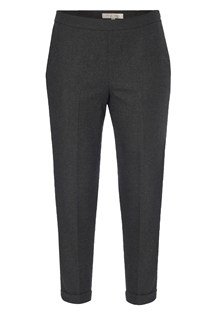 Cropped Peg Leg Trousers Grey, Black