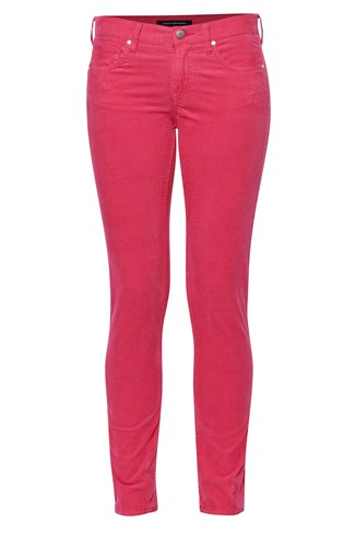 Corduroy Stretch Slim Trousers
