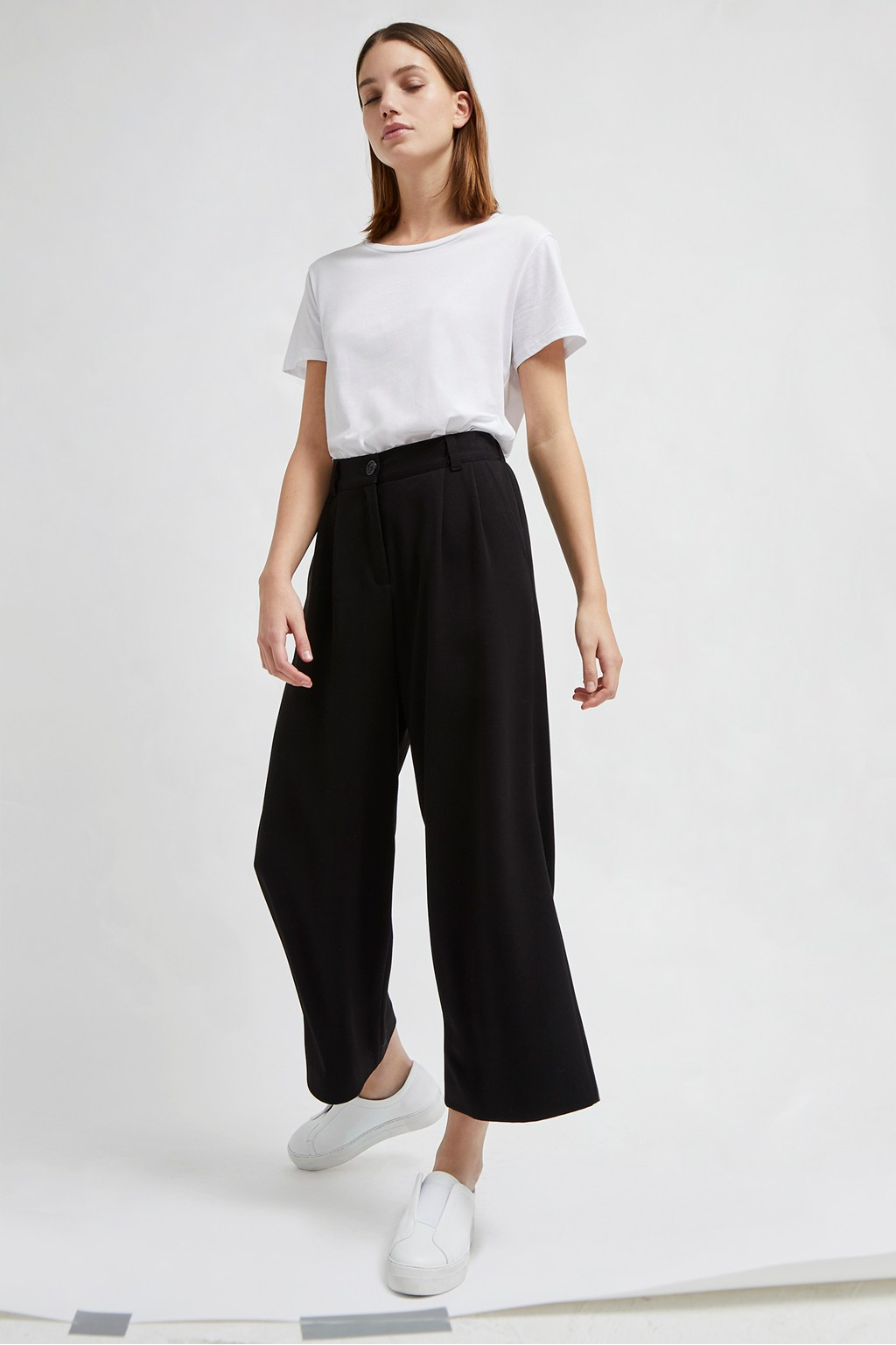 Angeline Drape Wide Leg Trousers | Collections | French Connection