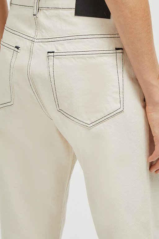 Complete the Look Iris Seeded Cotton Straight Leg Jeans