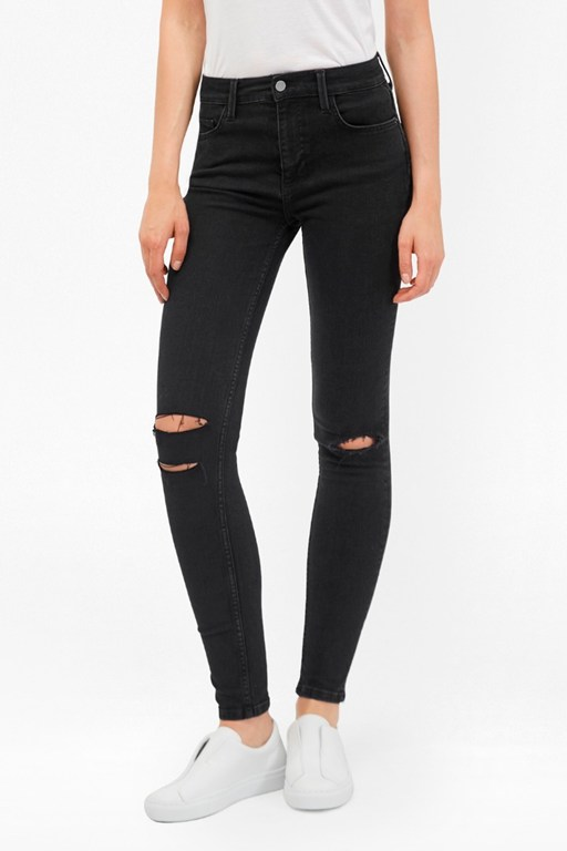 rebound ripped knee skinny jeans