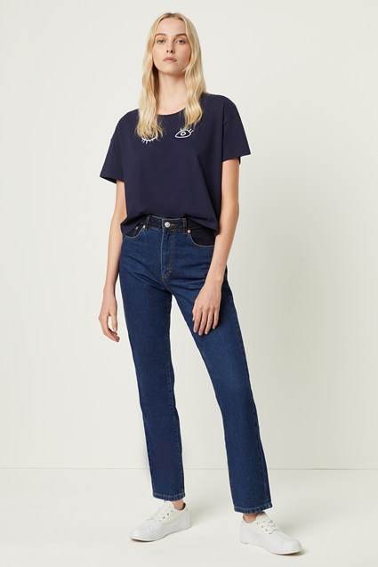 Leona Denim High Waist Straight Leg Jeans