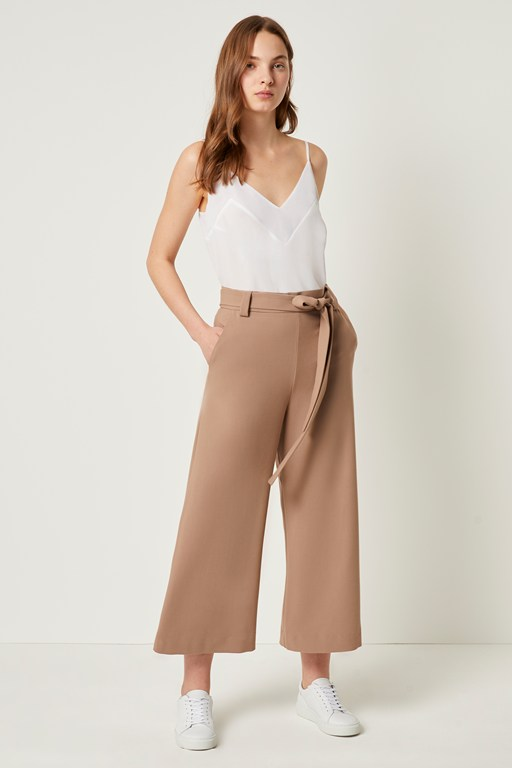 whisper ruth cropped flare trousers