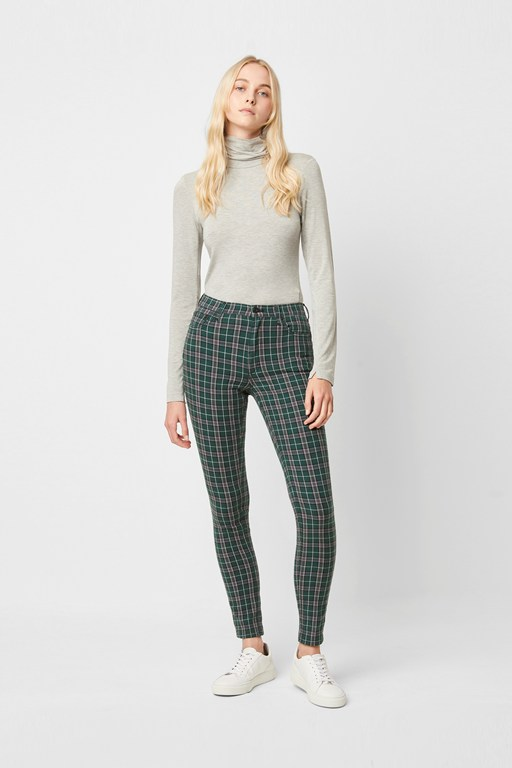 tilly check 5 pocket skinny jeans