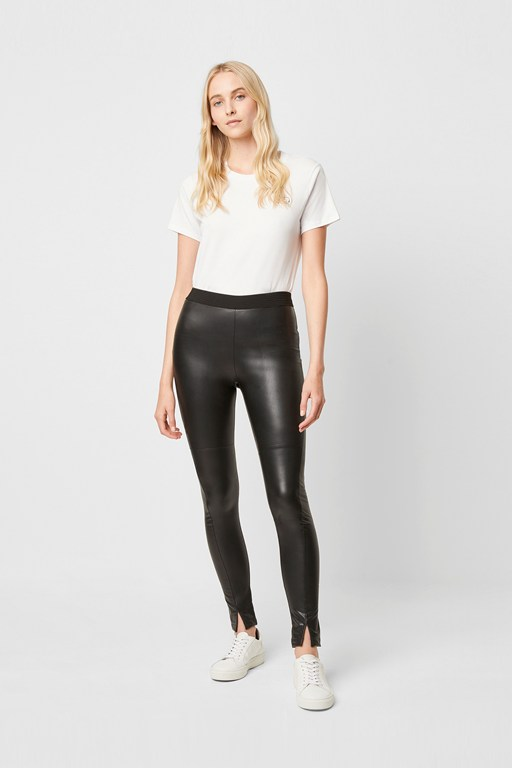 celina faux leather leggings
