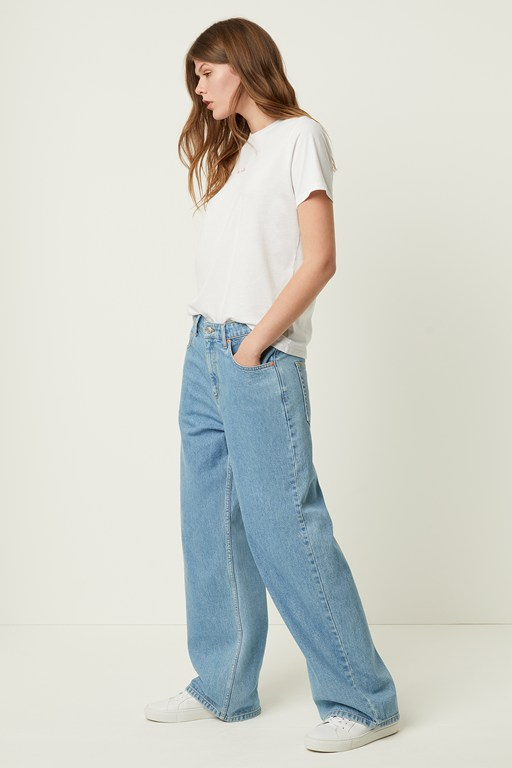 leona denim relaxed wide leg jeans
