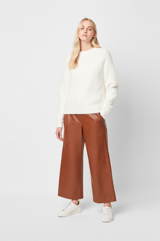 alia leather culottes