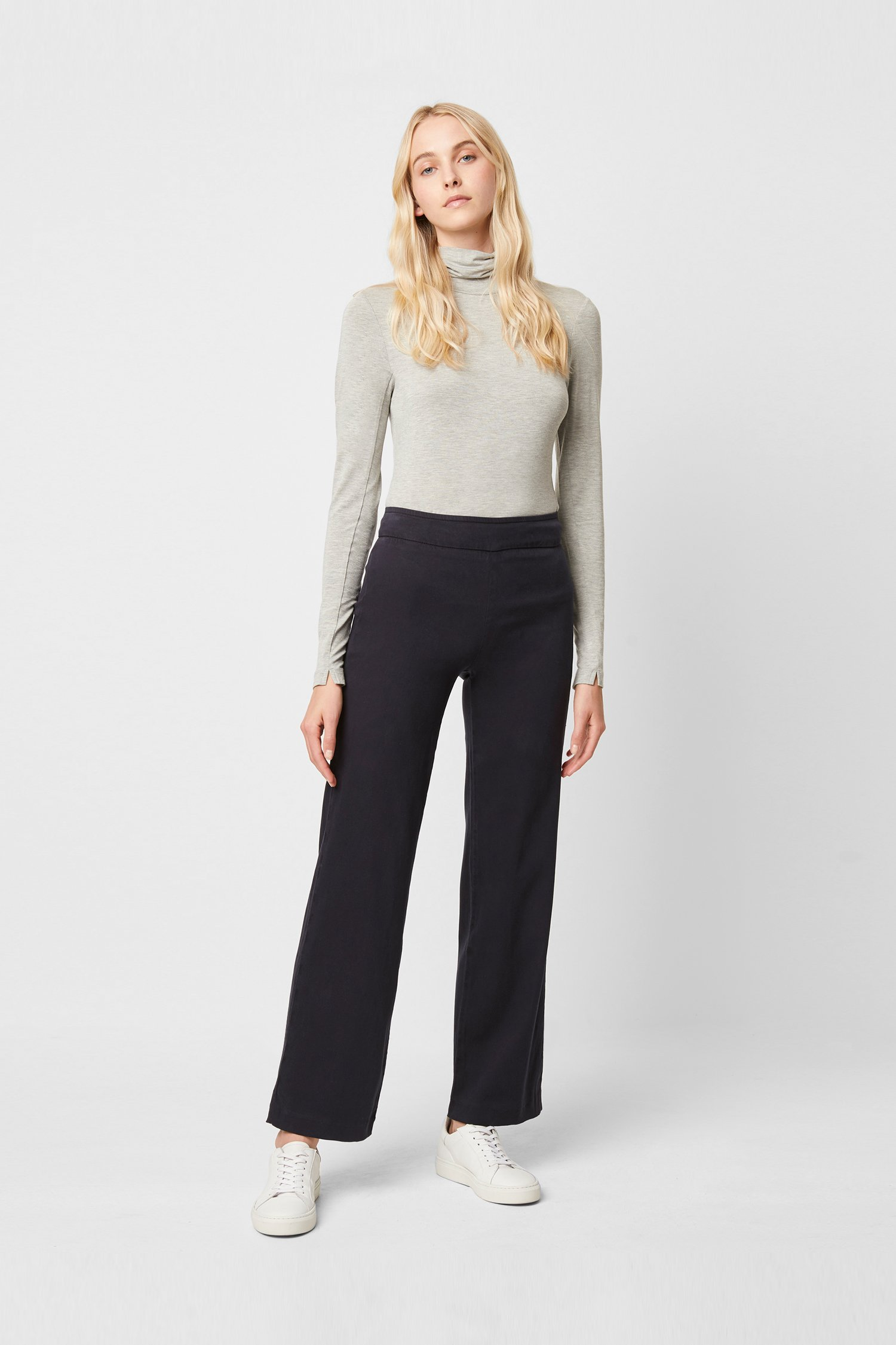 French Connection Catalina Culotte Trousers Womens RRP £85.00 Navy