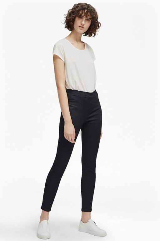 yoga denim skinny jeans
