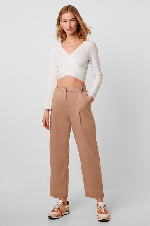 Complete the Look Sia Cotton High Waist Pleat Front Trouser