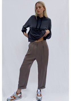 Rosanna Cupro Pleat Front Trousers