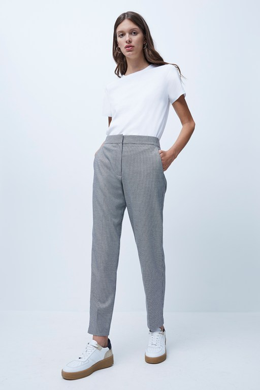houndstooth suiting tailored trousers
