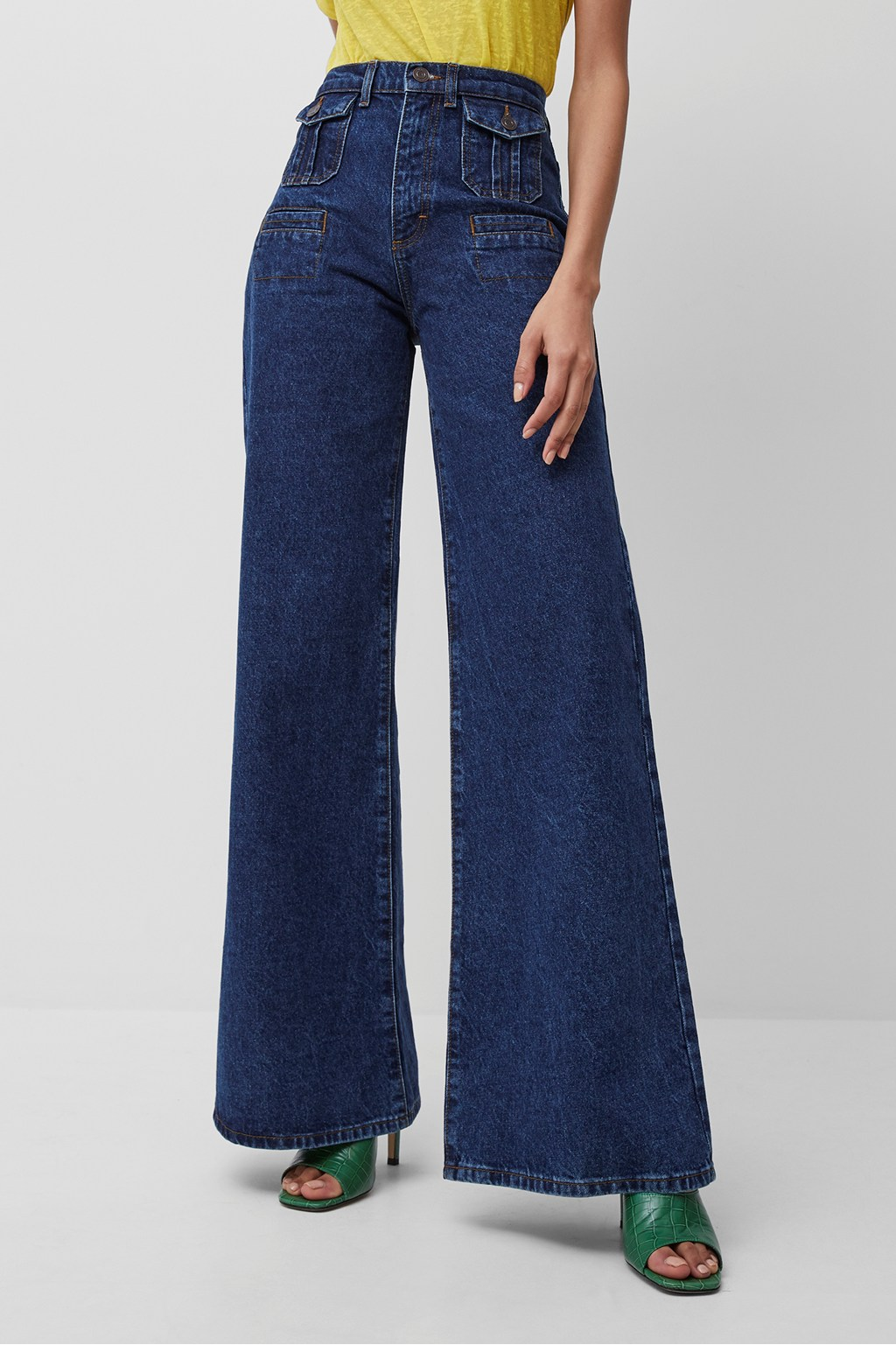 RIAH RECYCLED FLARED JEANS french connection