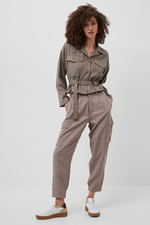 slouchy drape cargo trousers