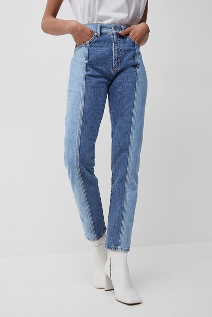 Palmira Recycled Two Tone Jeans