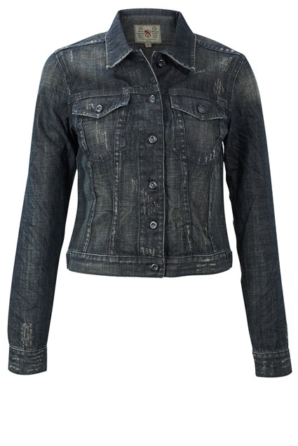 French Connection Flora Denim Jacket, Shade Wash