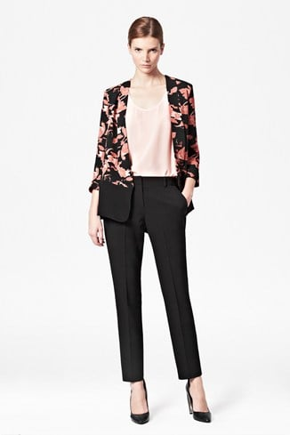 Vine Bloom Open Front Jacket