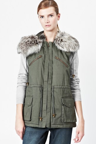 Freda Hooded Parka Gilet