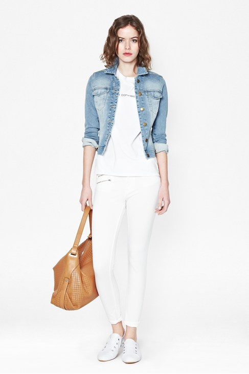 Evie Spot Denim Jacket