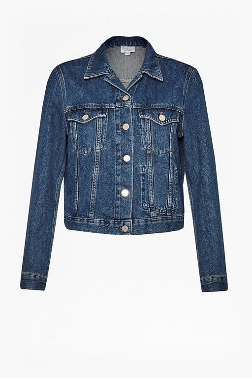 Complete the Look Micro Western Denim Jacket
