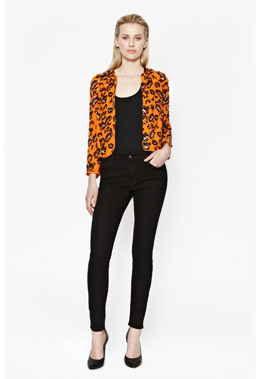 Sequin Leopard Embellished Jacket