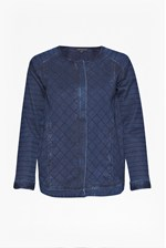 Looks Great With Quilted Denim Jacket