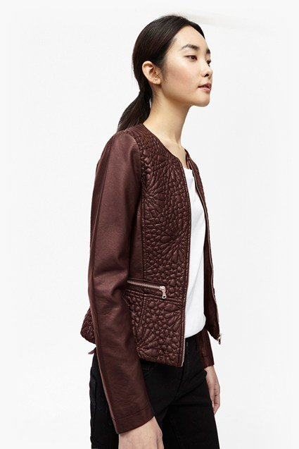 Medina Stitch Faux Leather Jacket