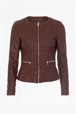 Looks Great With Medina Stitch Faux Leather Jacket