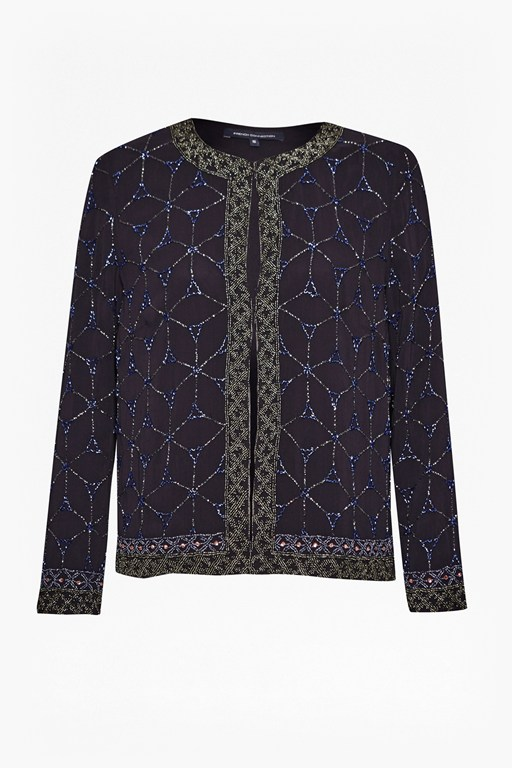 Complete the Look Madeline Mosaic Beaded Jacket