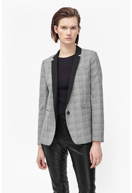 Empire Check Blazer