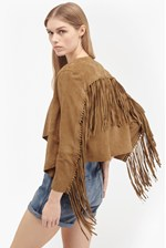 Looks Great With Honey Suede Fringed Jacket
