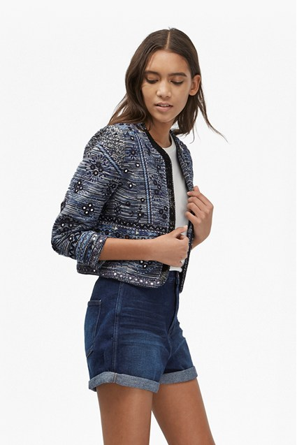 Palm Valley Embellished Boxy Jacket